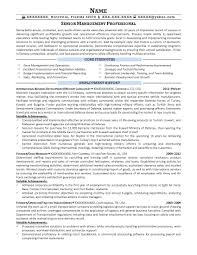 Military To Civilian Resume Sample by Military To Civilian Resume Writing Services Free Resume Example