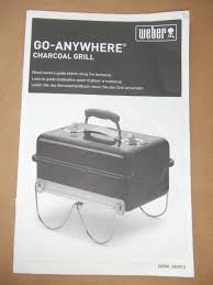 weber go anywhere charcoal bbq barbecue user manual booklet
