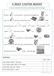 19 free esl easter bunny worksheets