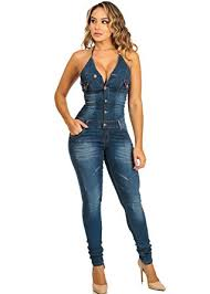 amazon jumpsuit amazon com womens juniors tie halter lifting denim