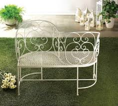 Tete A Tete Garden Furniture by White Metal Garden Courting Settee Bench Tete A Tete S Shaped