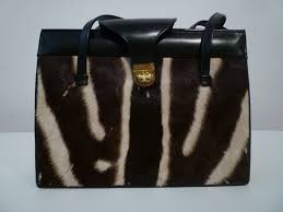 Beach House Zebra Tab by 60s Zebra Hide And Leather Handbag For Sale At 1stdibs