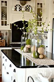farmhouse spring island vignette vignettes spring and kitchens
