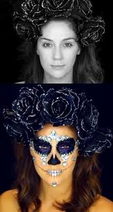 25 best ideas about skull makeup tutorial on sugar skull makeup tutorial skeleton makeup tutorial and skull makeup