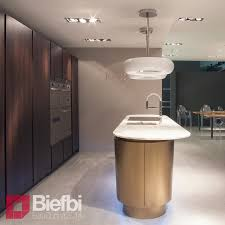 curved lines of central island timo evolution modern kitchen