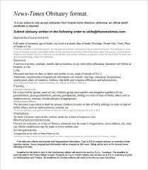 funeral obituary templates newspaper obituaries template best template exles