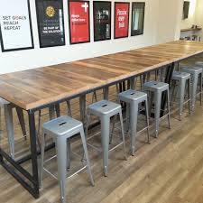 Western Conference Table Made Reclaimed Wood And Steel Industrial High Top Conference