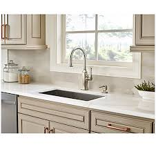 polished nickel kitchen faucet polished nickel briarsfield pull kitchen faucet gt529 bfd