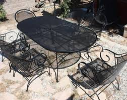 Patio Furniture Wrought Iron by Vintage Wrought Iron Patio Furniture Etsy