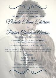 wedding announcement template lds wedding invitations christmanista