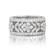 women wedding bands preville garland floral pave diamond white gold women s