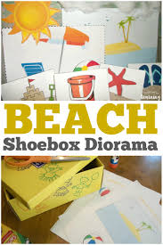 beach shoebox diorama craft look we u0027re learning