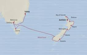auckland australia map oceania cruises 14 days from auckland new zealand to sydney
