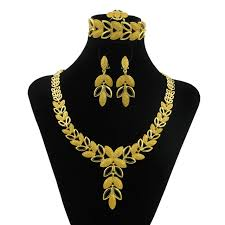 gold jewelry sets for weddings aliexpress buy new italian fashion leaf necklace design