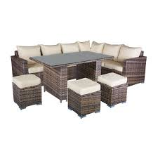 modular dining table oseasons oxford rattan modular 8 seater corner set with dining