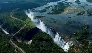Victoria Falls Map Victoria Falls Zambia Zimbabwe Botswana Places Pinterest