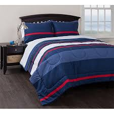 American Flag Comforter Set American Original Coastal Stripe Reversible Complete Bedding Set