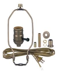 Brass Table Ls Antique Brass Table L Wiring Kit With 3 Way Socket 30551a10
