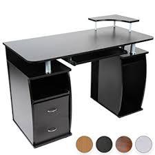 tablette coulissante bureau bureau bureau avec tablette coulissante pour clavier 2 tiroirs