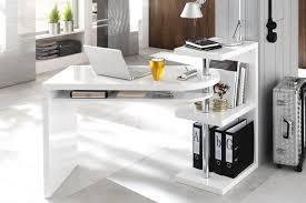 bureau design laqué blanc bureau design blanc laque avec plateau pivotant max