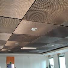 Ideas For Drop Ceilings In Basements Metal Suspended Ceiling Materials Pinterest Metal Mesh
