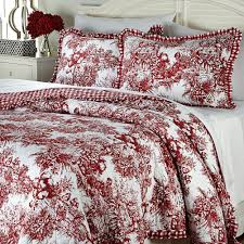 Ideas For Toile Quilt Design Bedroom Furniture White Toile Bedding Design With White Sheets