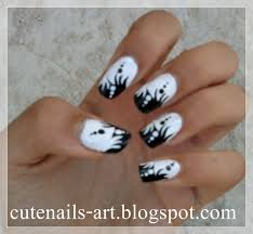 nail art pictures nail art gallery black white