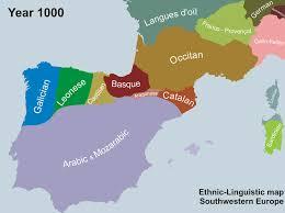 europe peninsulas map etho linguistic map of the iberian peninsula 1000 2000 europe