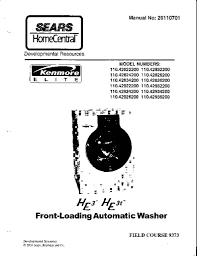 sears kenmore he3 he3t washer service manual applianceassistant
