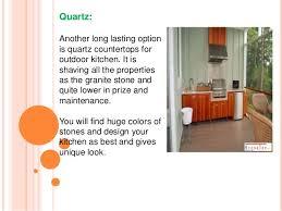 Quartz Countertops For Outdoor Kitchens - outdoor kitchen countertops with natural stone stone top inc