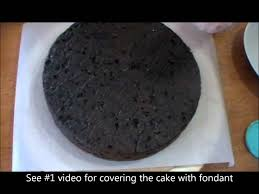10 preparing cake before icing with fondant video tutorial