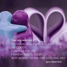 day wishes happy hug day pictures for with name editor creator name hug day