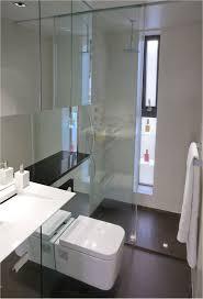 Bathroom Apartment Ideas Stainless Steel Pull Handle Beige Ceramic Floor Tiled Small