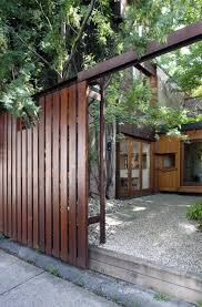 Modern Backyard Fence by 315 Best Fencing Images On Pinterest Landscaping Architecture