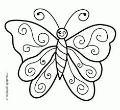 butterfly drawing for kids butterfly coloring pages