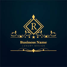 luxury business logo with ornaments vector free