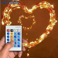 led christmas lights with remote control 10m 33ft 100 led fairy lights copper wire xmas string light luces de