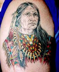 native american indian on muscles tattoo tattoos book 65 000