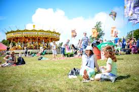 family friendly festival c bestival with suitcases