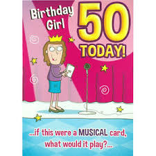 50th birthday card humorous rude happy greetings card