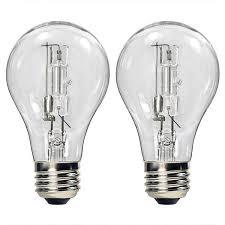 halogen light bulbs vs incandescent bulbrite 115042 43w a19 clear halogen 120v