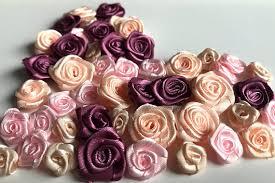 satin roses satin roses satin ribbon roses wedding decoration satin flowers