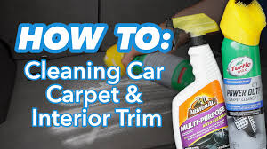 how to clean car carpet and interior trim at home - Home Products To Clean Car Interior