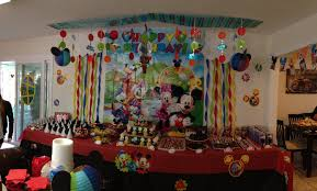 mickey mouse dessert candy buffet table covers black and white