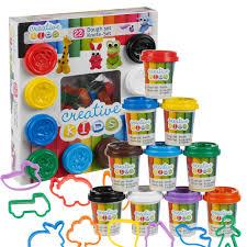 22 piece play dough craft gift set tubs u0026 shapes children toys