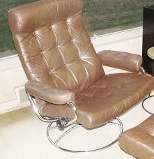 vintage ekornes stressless mid century modern eames leather chair