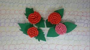 flower craft flowers and leaves out of foam sheets youtube