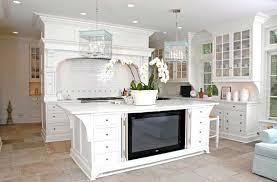 cottage kitchen island modern concept white floor tile kitchen kitchen island tv cottage