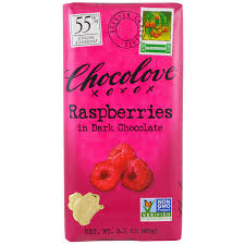 chocolove raspberries in dark chocolate 3 1 oz 88 g iherb com
