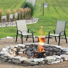 Rock Firepit Outdoor Pit Rocks Spectacular Idea Of Pit Seating